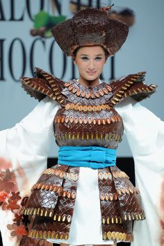 Salon Du Chocolat fashion show in Paris, the clothes are (mostly) made of…