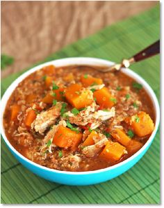 Low FODMAP Slow Cooker Chicken with Pumpkin http://www.ibssano.com/low_fodmap_recipe_slow_cooker_chicken_pumpkin_stew.html