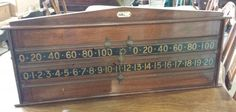 Jelks Mahogany Scoreboard B690 | Browns Antiques Billiards And Interiors.
