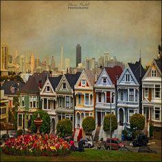 landscapelifescape:    Six Sisters, Alamo square, San Francisco, California, USA  (by A.Hulot)      Love