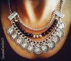 Collar Trend Western Jewelry, Tribal Jewelry, Boho Jewelry, Jewelry Crafts, Beaded Jewelry, Jewelery, Jewelry Accessories, Jewelry Design, Fashion Jewelry