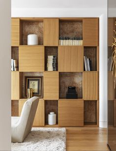 104 dreamy partition apartment design ideas you must have 91 Brick Interior, Office Interior Design, Wall Shelves, Shelving, Home Room Design, House Design, Room Partition Designs, Wall Partition, Modern Basement