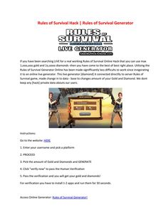 rules of survival hack using cheat engine