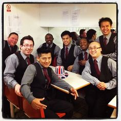 A happy bunch of our croupiers at Napoleons Casino Leicester Square, London.