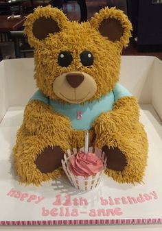bear cake, I made for my daughters Birthday :)