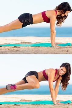 Add this plank variation to your existing routine or try it alone for a quick abdominal toning session.