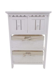 Shabby Chic White 4 Chest of Drawers Hallway Bedside Table Storage Unit Cabinet