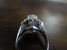 ファイヤーオパール2.12 ダイヤモンド2重取巻 Pt900 リング #10 - VINTAGE JAPANESE JEWELRY HIZENYA / 肥前屋質店