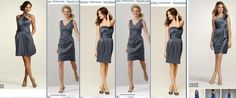 Pewter Dress Line Up :  wedding dresses mix matched bridesmaid black white silver The Line Up