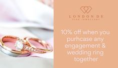 Get 10% off when you purchase any wedding & #engagementring #ring together (including all bespoke creations)! #LondonDE #bespokeservice #bespokejewellery #diamonds #colouredgemstones #eternityring #rings #diamondring #weddingring #diamondrings #weddingrings #bespokering #HattonGardenJewellery #HattonGardenJewellers #HattonGardenRings #bespokeengagementring #diamondengagementring #diamondweddingring #weddingband #weddingbands #diamondeternityring Eternity Ring Diamond, Diamond Wedding Rings, Diamond Rings, Diamond Engagement Rings, Wedding Bands, Hatton Garden, Fine Jewelry, Jewelry Making, Bespoke Jewellery