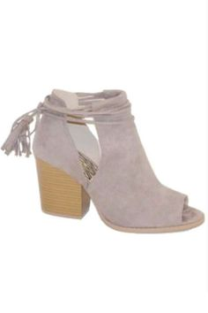 Shoes - Maya Summer Peep-Toe Lace Up Booties www.piperstreetshop.com