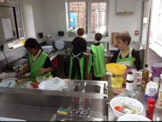 Year 5 pupils at Charlton Manor during their latest cooking class!
