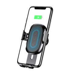 Baseus Qi Wireless Fast Charging Gravity Auto Lock Air Vent Car Phone Holder Stand for iPhone 8 X - Black Healthy Living Magazine, Healthy Living Tips, Phone Photography, Video Photography, Charger Holder, Phone Charger, Air Vent Phone Holder, Senior Home Care, St Kitts And Nevis