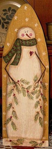 .Snowman ironing board