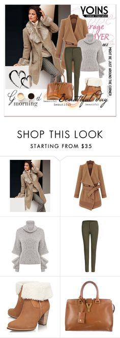 """Yoins 8"" by aida-1999 ❤ liked on Polyvore featuring Behance, UGG Australia, Yves Saint Laurent, Lulu*s and yoins"
