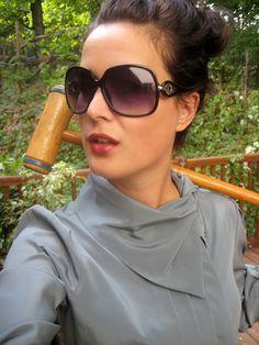 Vintage gray secretary blouse