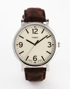 Timex Originals Leather Strap Watch T2P526