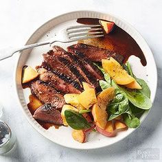 Easy enough for a weeknight and impressive enough for company, the secret to this dish is in the flavor-packed glaze. Balsamic Glaze Recipes, Balsamic Chicken Recipes, Recipe Chicken, Bhg Recipes, Oven Recipes, Recipes Dinner, Steak Recipes, Paleo Recipes, Cooking Recipes