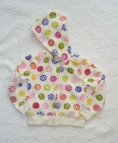 Gymboree Candy Shoppe Hoodie Jacket Fleece Candy Print Girls size 5 NWT #Gymboree #Everyday