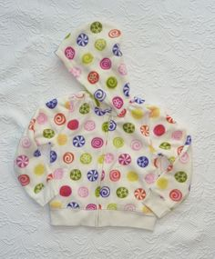 Gymboree Candy Shoppe Hoodie Jacket Fleece Candy Print Girls size 5 NWT #Gymboree #Everyday