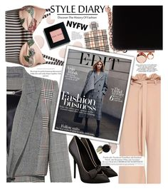 """Feminine plaid game,fashionable blame!"" by jelena-bozovic-1 ❤ liked on Polyvore featuring Sophia Webster, Alexander McQueen, La Perla, Burberry, Rachel Comey, Anja, Bobbi Brown Cosmetics, contestentry and NYFWPlaid"