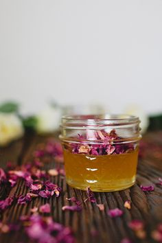rose petal infused honey