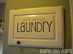 Ha! A laundry shoot is a MUST in my house!
