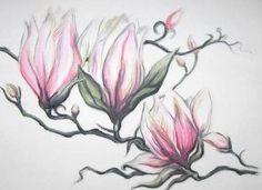 Magnolias flowers tattoo design