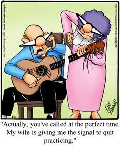 """""""Spectickles"""" Cartoon A Day - Strumming The Strings of Love - Bill Abbott Cartoons"""