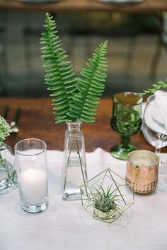 Modern Urban Jungle Wedding – RMBO Collective Downtown urban wedding featuring jungle elements, greenery, and modern touches by RO & Co. Fern Centerpiece, Wedding Table Centerpieces, Flower Centerpieces, Wedding Decorations, Centerpiece Ideas, Fern Wedding, Floral Wedding, Wedding Flowers, Dream Wedding