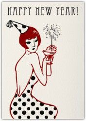 happy new year, new year's, new year, art deco, new year's card, card, party,