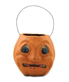 Scary Vintage Pumpkin Bucket from The Holiday Barn