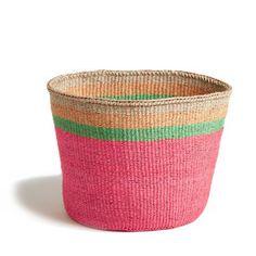 Pink Striped Basket - Kenya