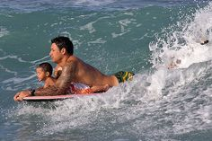 Surfing with Dad. Dad Son, Father And Son, People Fr, Father Knows Best, Father Figure, Local Girls, Water Games, Surfs Up, My Daddy
