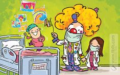 "Illustration of the picture book ""Clown MD""."