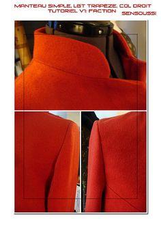 Tutoriel manteau simple à col droit