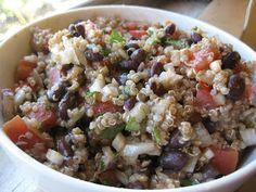 THM (E) quinoa, black bean & tomato salad