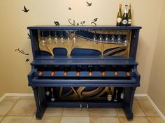 Repurposed Piano Ideas Keys, Bar, Desk, Chair & Other Parts Piano Table, Piano Desk, Funky Furniture, Repurposed Furniture, Music Furniture, Refurbished Furniture, Custom Furniture, Furniture Makeover, Painted Furniture