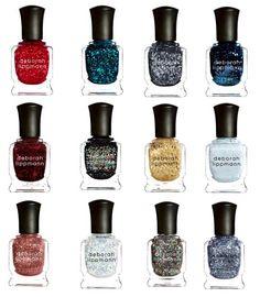 WANT: Glitter Nail Polish! =) Looking at these Deborah Lippmann colors already LIGHTS up my day ; Sparkly Acrylic Nails, Glitter Nail Polish, Nail Polishes, Home Design, Cute Nails, Pretty Nails, Deborah Lippmann Nail Polish, Manicure, Kiss Nails