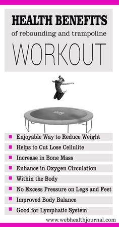 Health Benefits of Trampoline Exercises - Web Health Journal : #health #health_tips #workouts #health_care #healthy_living #health_fitness #fitness #fitness_tips #fitness_exercise