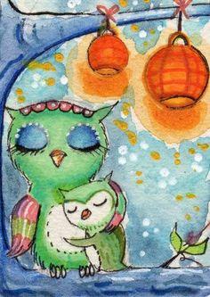Owl Sleeping Baby ow