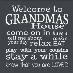 Welcome to GRANDMAS House Stencil  5 sizes by SuperiorStencils
