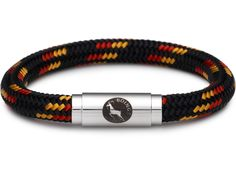 BOING Climbing Rope Wristband Bracelet: Middy ULURU - Black, Red, Yellow | Lush Labels British designed jewellery, accessories & gifts