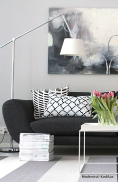 ❤️Softer shade of modern in charcoal