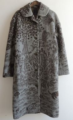 mina perhonen printed coat I don't like the coat so much, but love the idea of illustration on material.