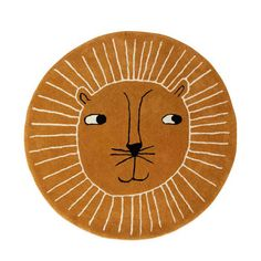 The Lion Rug illustrates a playful lion and is coloured in Caramel shades, giving the rug a very cute and adorable look. The Lion Rug is made of wool and cotton. Vacuum and spot clean only. Leopard Rug, Cat Rug, The Cool Republic, Animal Rug, Childrens Rugs, Tapis Design, Rug Material, Floor Rugs, Wool Rug