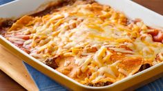 Layered Beef Enchiladas Get this cheesy, Mexican-inspired meal on the table in 45 minutes.Get this cheesy, Mexican-inspired meal on the table in 45 minutes. Mexican Dishes, Mexican Food Recipes, Beef Recipes, Dinner Recipes, Cooking Recipes, Easy Cooking, Recipies, Easy Recipes, Copycat Recipes