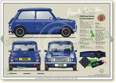Mini Cooper Classic, Mini Cooper S, Classic Mini, Classic Cars, Blueprint Drawing, Automobile, Mini Drawings, Classic Portraits, Classic Mercedes
