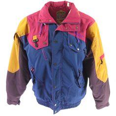 bb9af32ada Vintage 90s Nevica Ski Jacket Mens 42 Recco Premiere Neige Puffy Snowboard