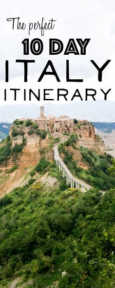 Itinerary for a 10 day Italy trip - #travel #traveltips #italy More